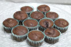 black forest muffins
