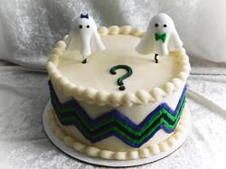 gender reveal ghost cake