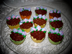 Flower Basket cupcakes 2