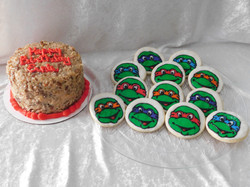 Tmnt cake and cookies