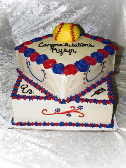 Softball Nurse Grad Cake