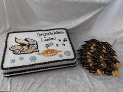 Northwest grad cake