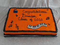 grad music cake