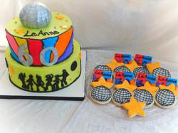 70's Disco cake