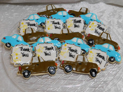 cars and truck cookies