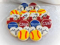 Softball Nurse Grad Cookies