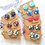 Thumbnail: 25 pairs x Fabric Button Earrings