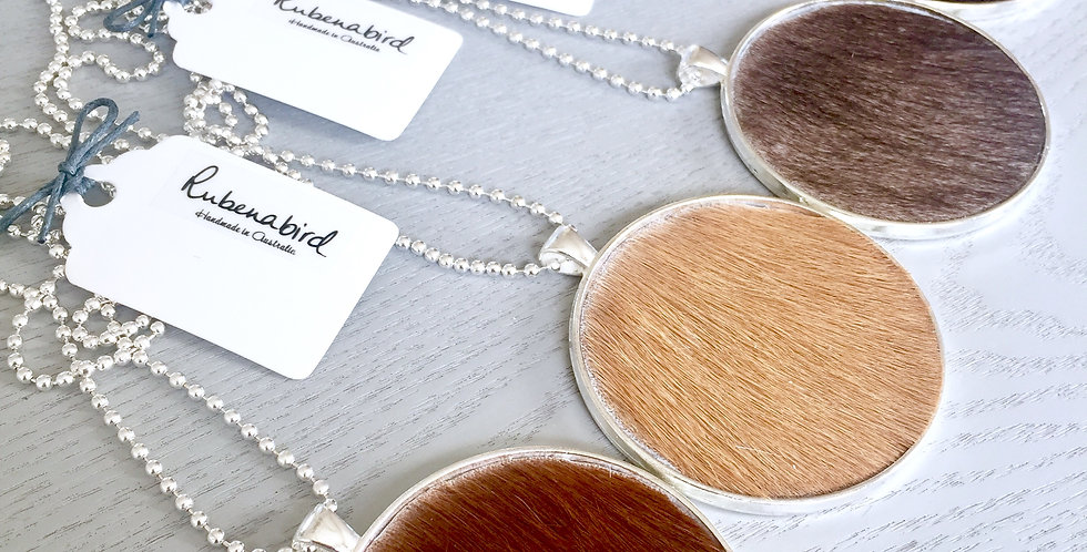 5 pcs x Matilda Hide Pendant Necklace: Available in Silver or Bronze