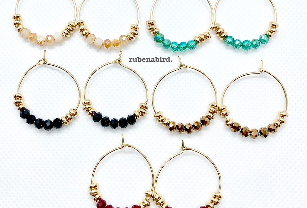 NEW! 5 pairs x Holly Gold Filled Hoop Earrings (Limited Edition)