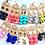Thumbnail: 5 pairs x Olivia Hide & Flower drop earrings