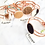 Thumbnail: 5 pcs x Brooke Hide Rose Gold Cuff Bracelets