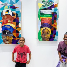 2019- Young Community Members at Catch Me In The A- Sinclair Gallery Exhibit