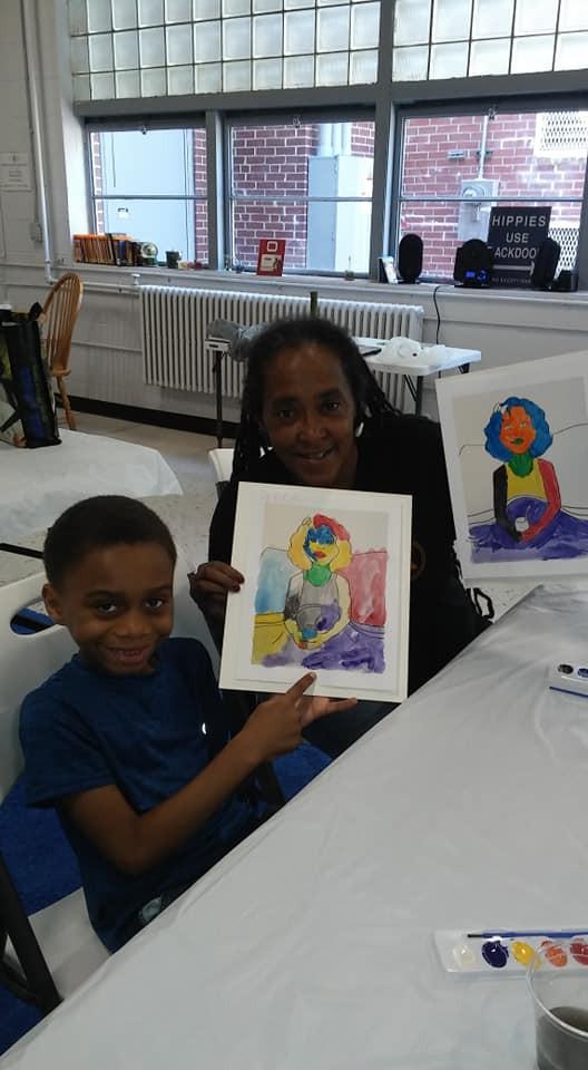 Theresa Davis and Young Artist