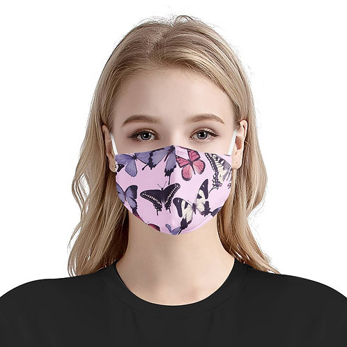 Butterfly Paradise Mask | Soft & Silky Triple Layer W/ Nose Wire & 4 Filters