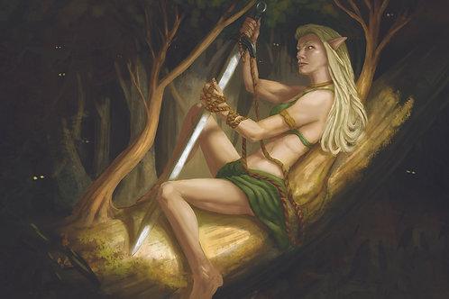 Playmat - Sword Thief Tree Elf