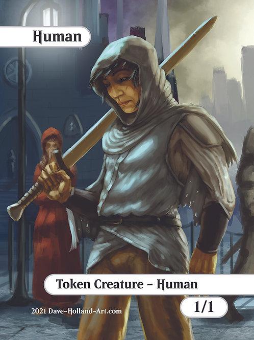 Human Token 1/1 White