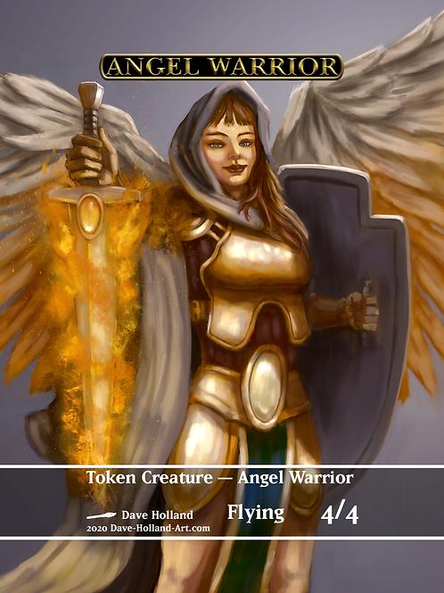 Angel Warrior 4/4 W Flying Token