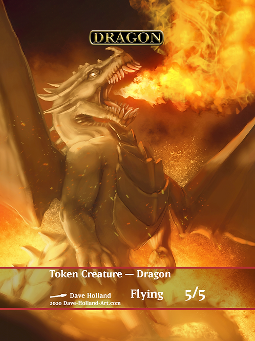 Dragon Token 5/5 Flying Red