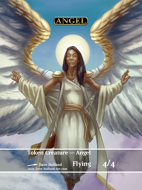 Angel Token 4/4 Flying white
