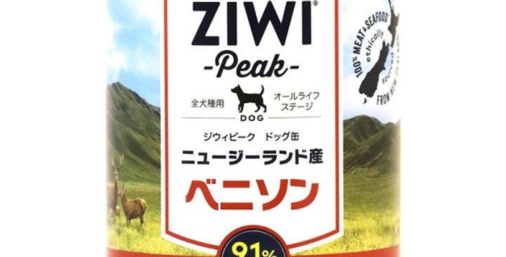 【ZiwiPeak venison】ジウィピーク ドッグ缶 ベニソン 390g