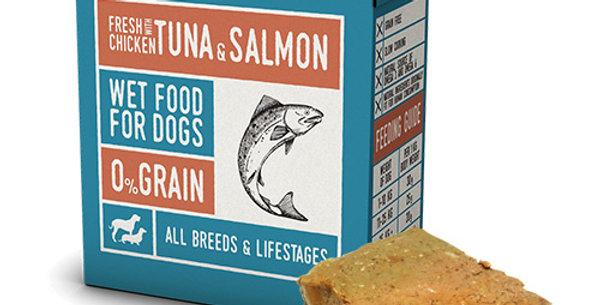 【Naturea】ナチュレア 犬用ウェットフード チキン&ツナ&サーモン(グレインフリー/総合栄養食)375g