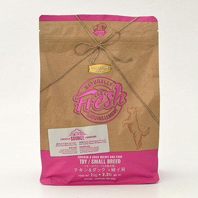 【Naturally Fresh】ナチュラリーフレッシュ チキン&ダック 緑イ貝プラス スモールブリード 1kg