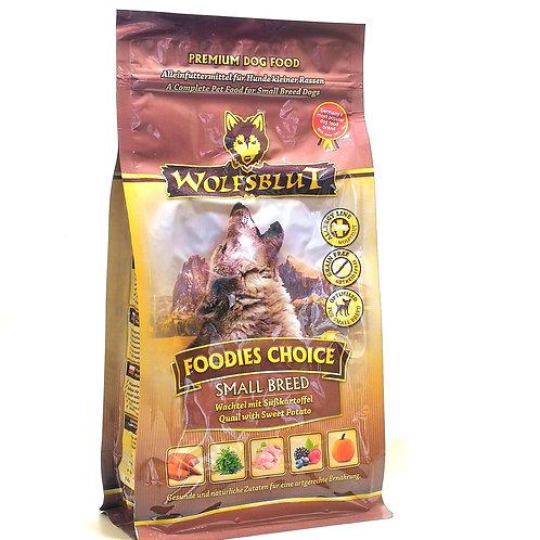【WOLFSBLUT】ウルフブラット フーディーズチョイス スモールブリード(ウズラ肉)500g