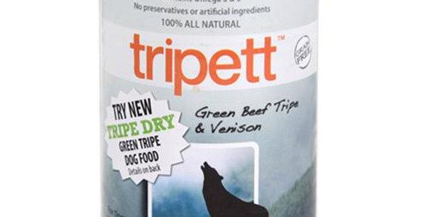 【PetKind Tripett 】ペットカインド トライペット グリーンビーフトライプ&ベニソン缶 396g