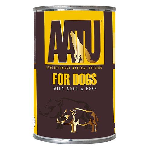 【AATU】アートゥー 90% ポーク&ワイルドボア缶  400g