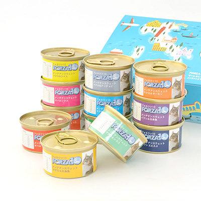 【フォルツァ10】FORZA10 Mare Selection CAT マーレセレクション ジュレ仕立て メンテナンスモイスト缶 85gX12種