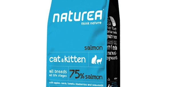【Naturea】ナチュラルズ ドライフード キャット&キトン サーモン(全年齢の猫種/総合栄養食)