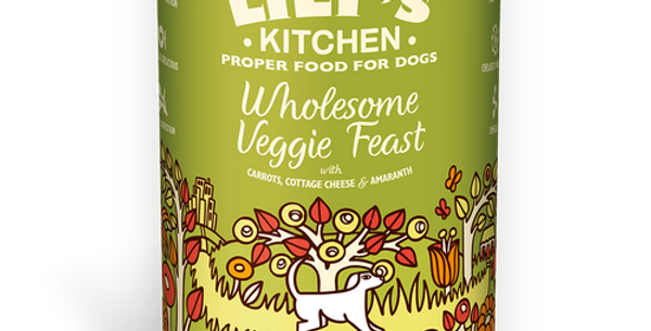 Lily's Kitchen (リリーズキッチン) 健康的な野菜のご馳走 ドッグ 375g(個別日本語ラベルなし)