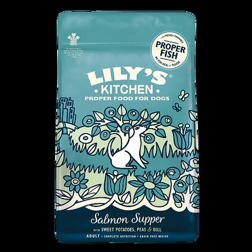 Lily's Kitchen(リリーズキッチン) 成犬サーモンの晩餐 (アジアパッケージ)