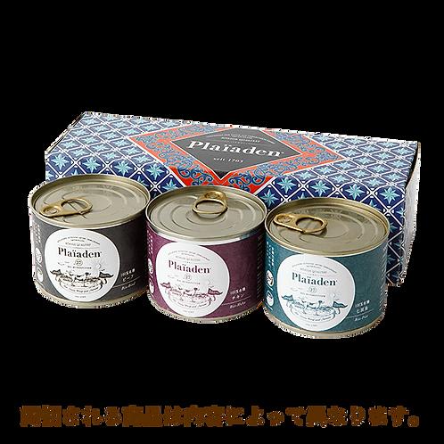 【Plaiaden】プレイアーデン 100%有機 ギフトボックス3缶 for Dog