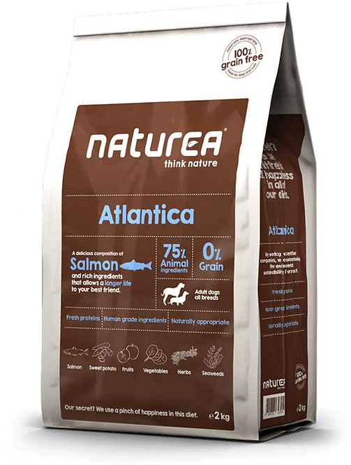 【Naturea】ナチュレア アトランティカ サーモン 成犬用(グレインフリー/総合栄養食)2kg