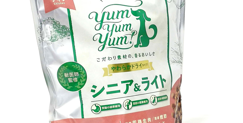 Yum Yum Yum!(ヤムヤムヤム)シニア&ライト チキン やわらかドライタイプ
