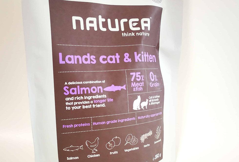 【Naturea】ナチュレア グレインフリー 総合栄養食 ランズ キャット&キトン(サーモン&鶏肉&ウサギ肉/全猫種用ドライ)