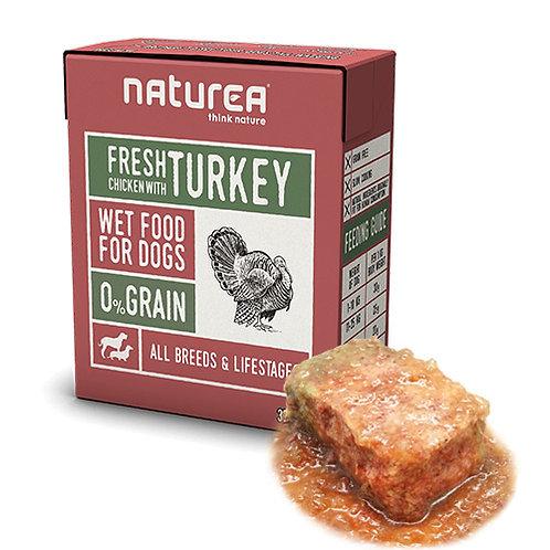 【Naturea】ナチュレア 犬用ウェットフード チキン&ターキー(グレインフリー/総合栄養食)375g
