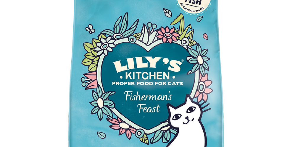 Lily's Kitchen(リリーズキッチン)キャット 成猫 漁師風のご馳走 ホワイトフィッシュとサーモン  CAT 1Kg
