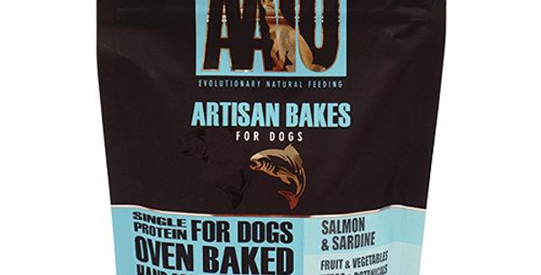 AATU(アートゥー)アルチザン ベイクス サーモン&サーディン (犬用ビスケット)150g