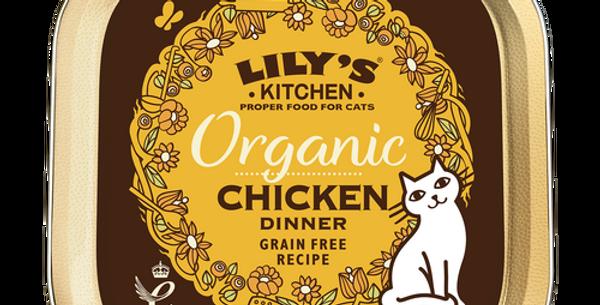 Lily's Kitchen(リリーズキッチン) 成猫 100% Organic オーガニックチキンのディナー・キャット-85g