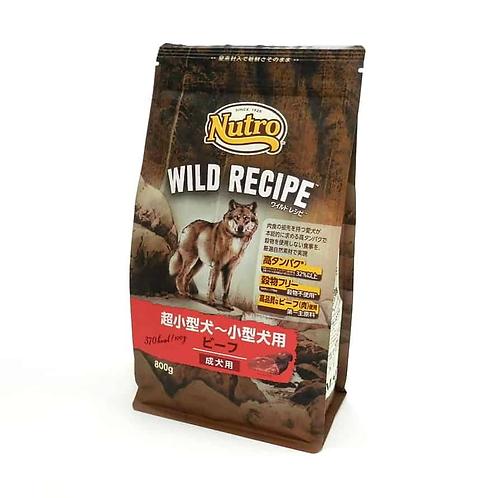 【Nutro WILD RECIPE】ワイルドレシピ(超小型犬~小型犬用) ビーフ 成犬用