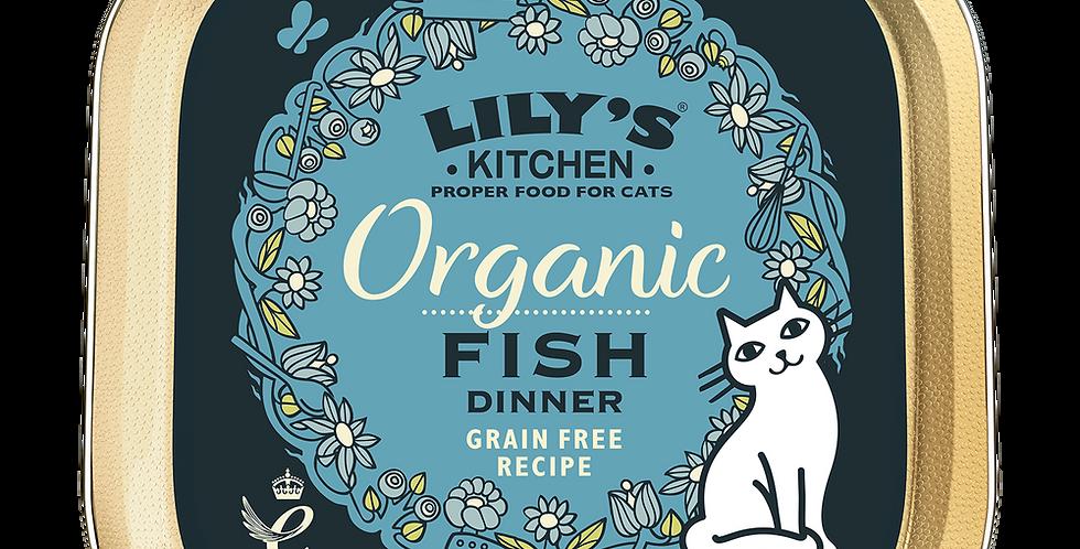 Lily's Kitchen(リリーズキッチン) 成猫 100% Organic オーガニックフィッシュのディナー・キャット-85g