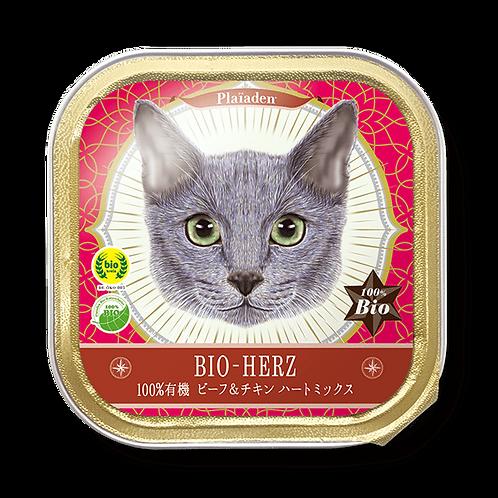 【プレイアーデン】100%有機 ビーフ&チキン ハートミックス95g(95g×5個 専用BOX入)