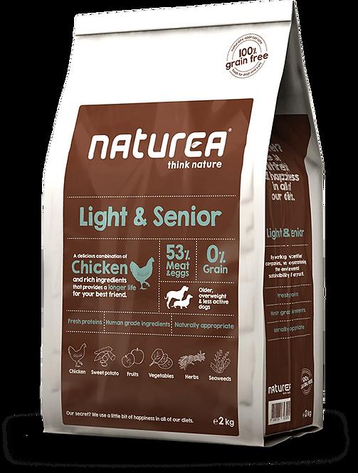 【Naturea】ナチュレア ライト&シニア 53%チキン 7歳以上シニア犬(グレインフリー/総合栄養食)2kg