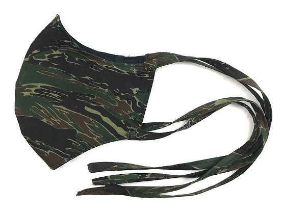 Green Tigerstripe Safety Mask