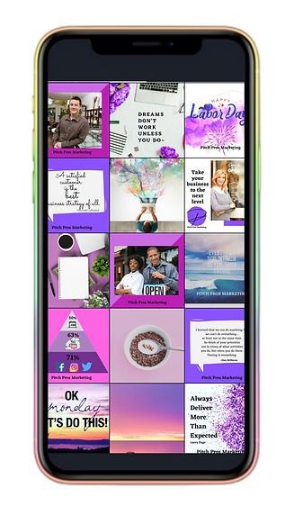 Purple Gradient Electronics Facebook Sto