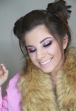 glitter eye makeup BILJANA BABIČ