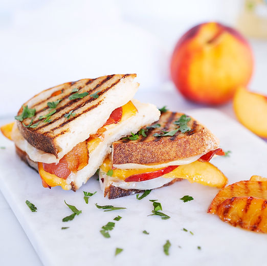 Peach & Proscuitto Grilled Cheese