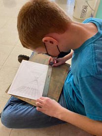 Visual Arts Students Working on Perpective
